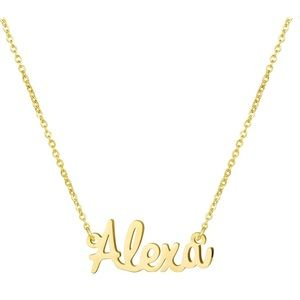 """Jewelry - """"Alexa"""" personalized 18k gold necklace for women"""